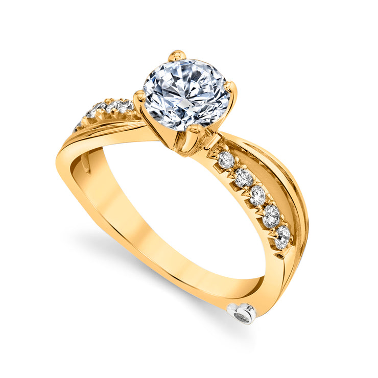 Yellow Gold | Surge-engagement-ring