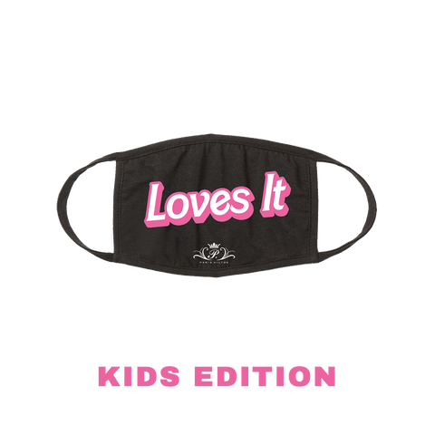 Loves It (Large Text) Face Mask - KIDS Edition