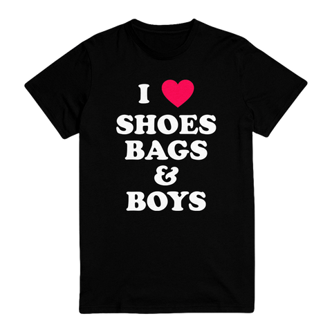 I ❤️ Shoes, Bags & Boys Unisex Tee Pre-Order