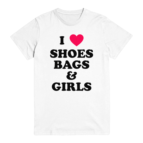 I ❤️ Shoes, Bags & Girls Unisex Tee Pre-Order