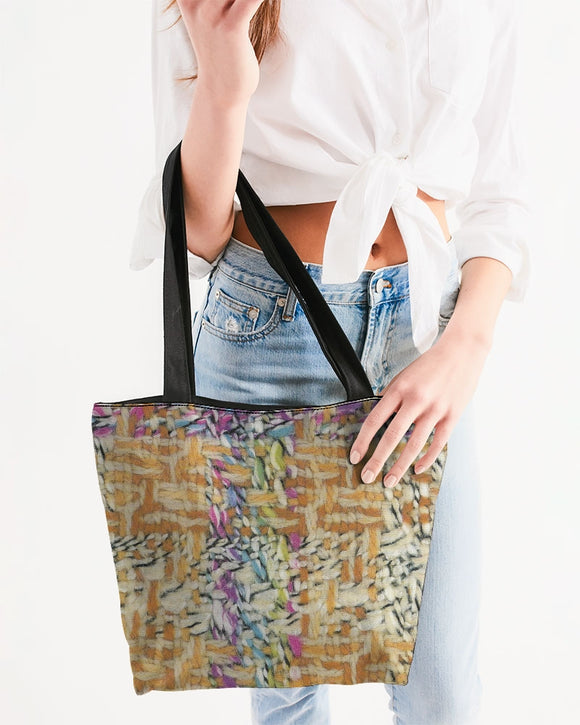 Wool Wall Canvas Zip tote bag - MADE AND PRINT TO ORDER