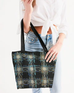 Pied de poule Canvas Zip Tote - MADE AND PRINT TO ORDER