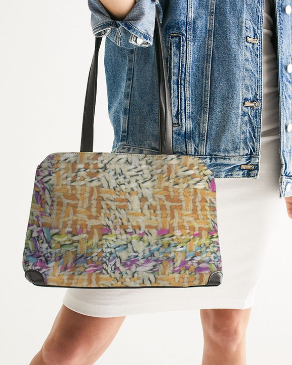 Wool Wall Shoulder Bag - MADE AND PRINT TO ORDER