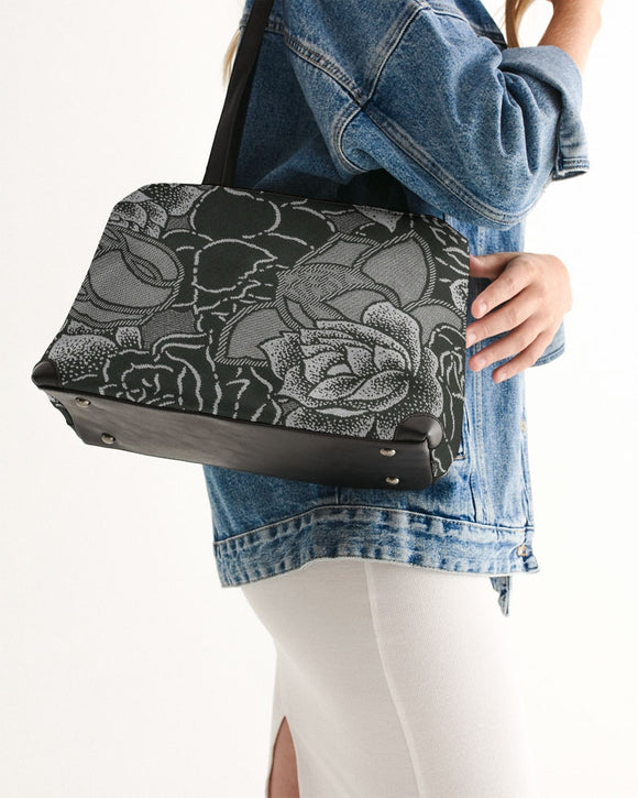 Black Roses Shoulder Bag - MADE AND PRINT TO ORDER