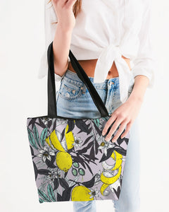 lemon life Canvas Zip Tote