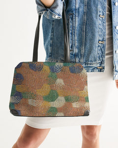 Woven straw Shoulder Bag - MADE AND PRINT TO ORDER