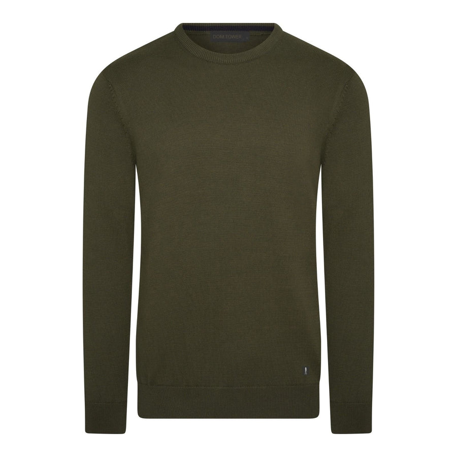 Army Green | Ronde-hals Pullover