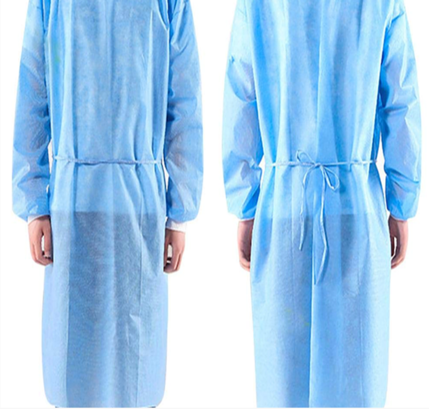 Disposable Isolation Gown (Blue) [10 Pieces]