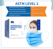 Load image into Gallery viewer, ASTM Level 2 Medical Disposable Masks (50 pcs/box) [WHILE QUANTITIES LAST]