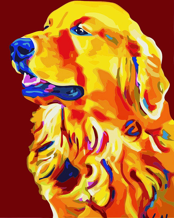diamond painting hond labradore