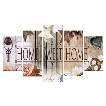 diamond painting vijfluik tekst home sweet home