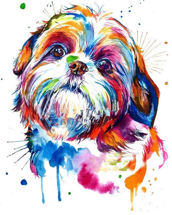 diamond painting shihtzu hond