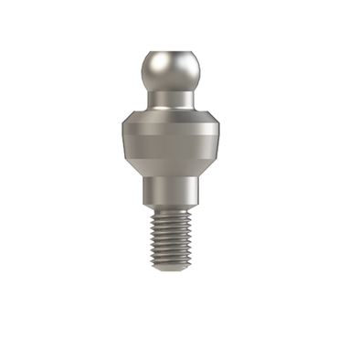 Straight Titanium Ball Attachment for Internal Hex Dental Implant