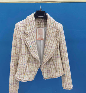 *PREORDER* Cream Tweed Blazer Jacket