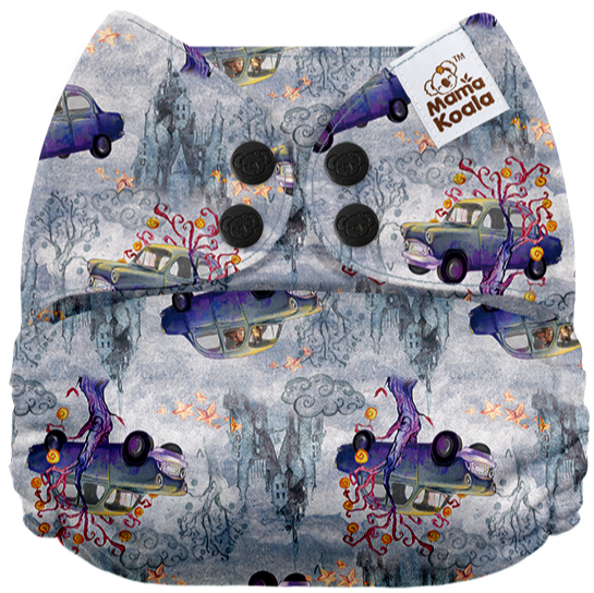 Mama Koala One Size Pocket Nappy (2x Bamboo Inserts)- Harry Potter The Whomping Willow
