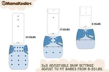 Load image into Gallery viewer, Mama Koala One Size Pocket Nappy (2x Bamboo Inserts)- Night Bus