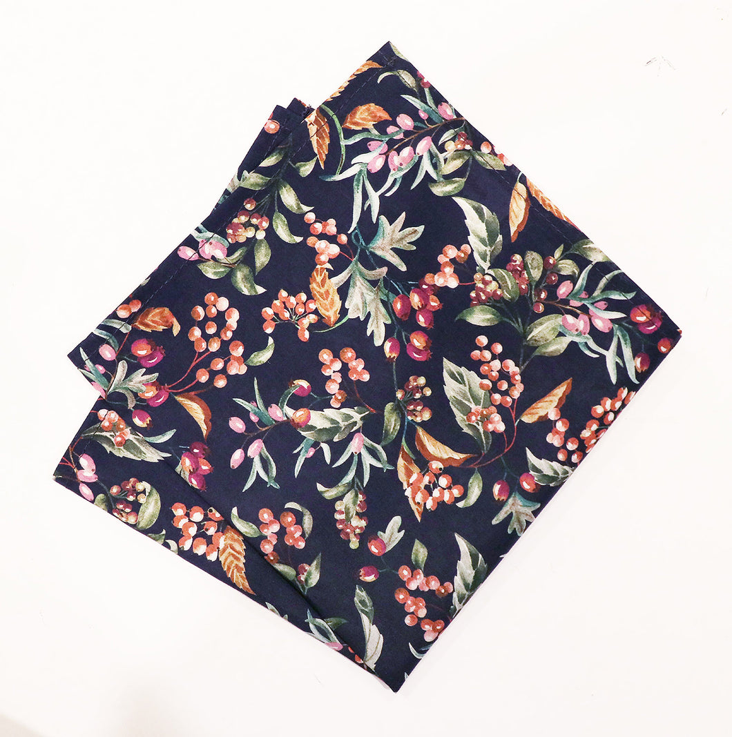 Parisian Liberty Pocket Square - Bitter Sweet