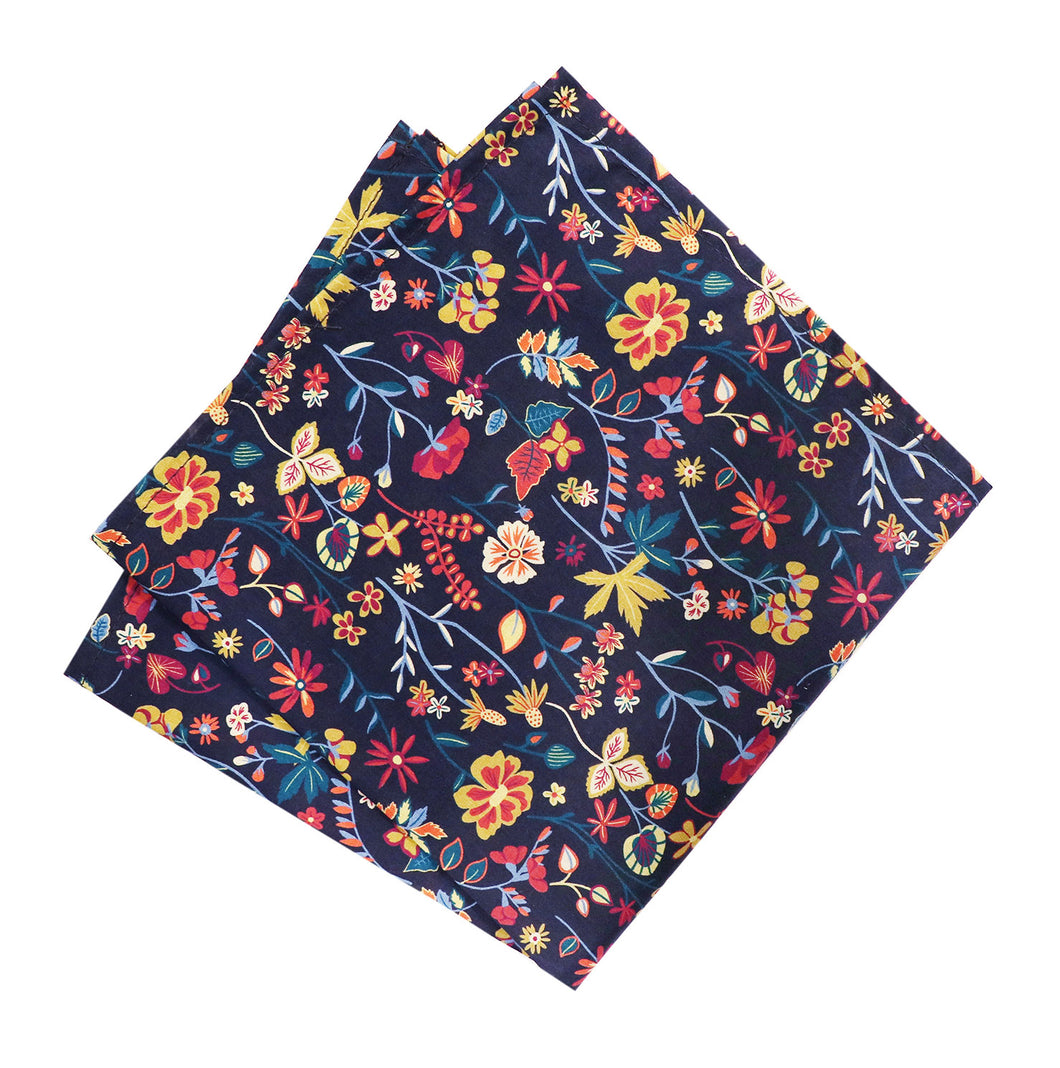 Parisian Liberty Pocket Square - Botanist's Diary
