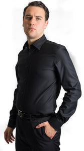 Brooksfield Black Shirt Double Cuff