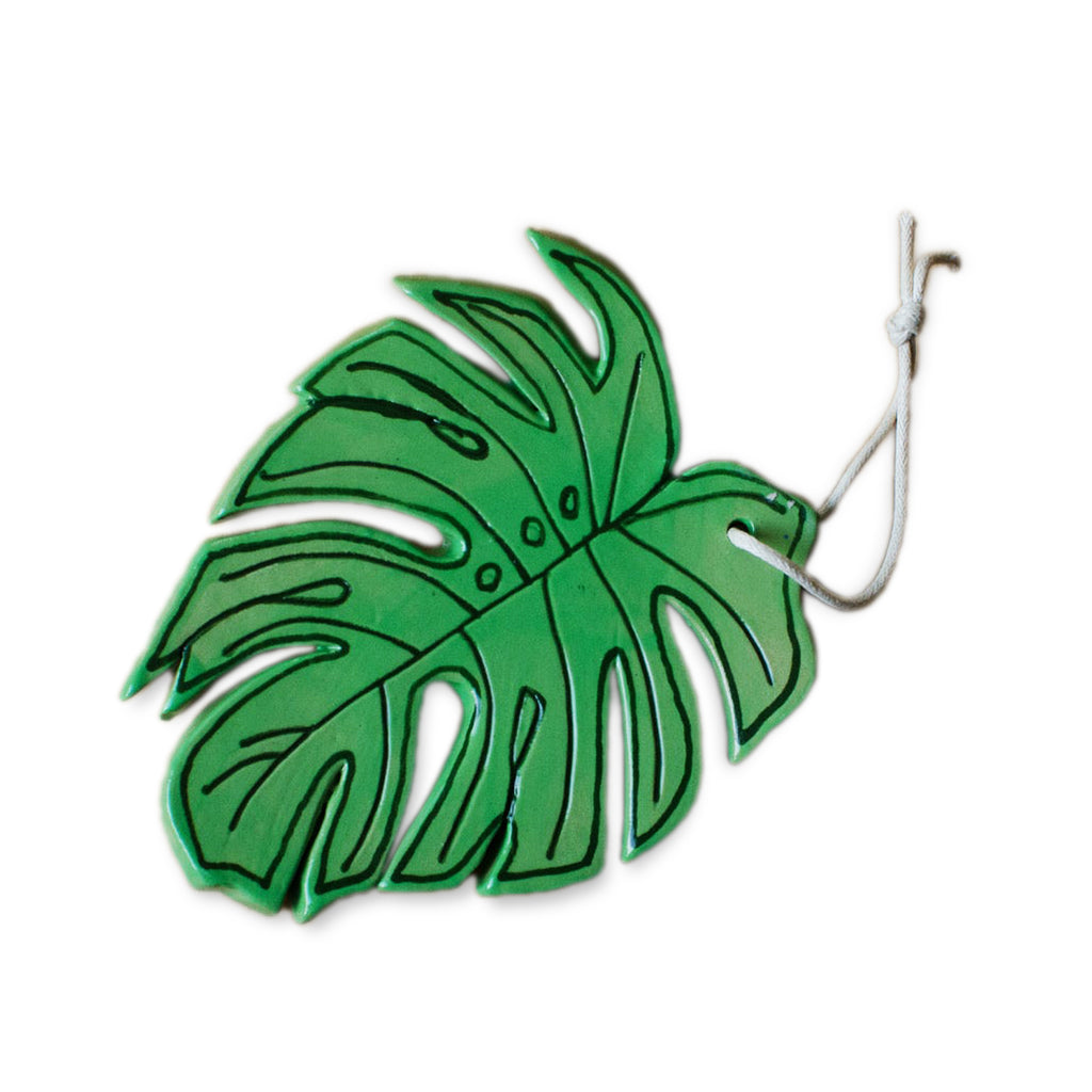 Monstera Leaf Ceramic Ornament