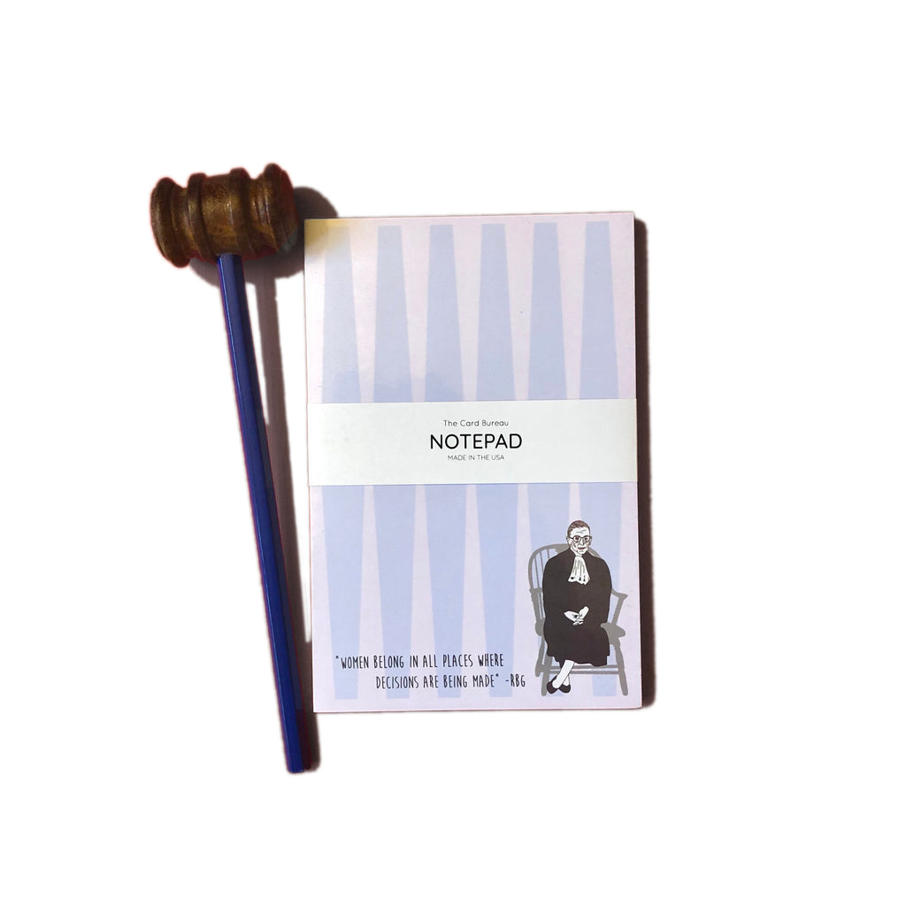 RBG notepad & Gavel Pencil Gift Set