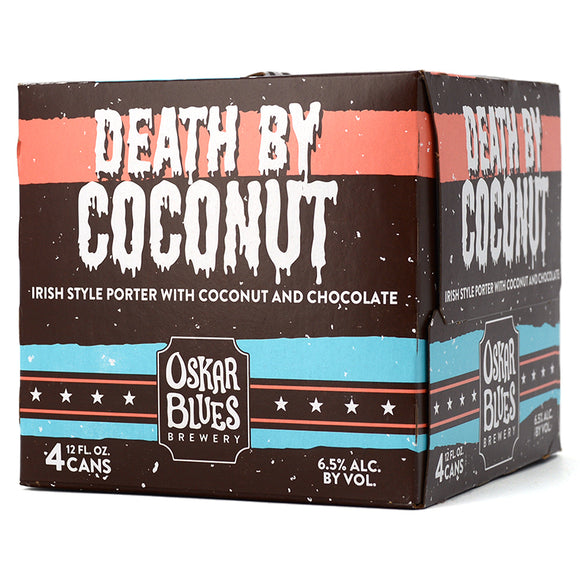 OSKAR BLUES DEATH BY COCONUT IRISH STYLE PORTER WITH COCONUT AND CHOCOLATE 4C