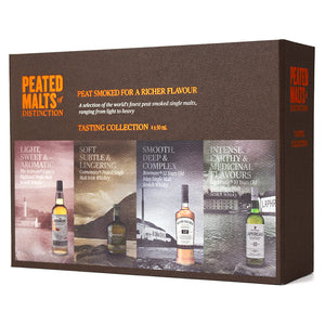 PEATED MALTS OF DISTINCTION TASTING COLLECTION 4 x 50ML