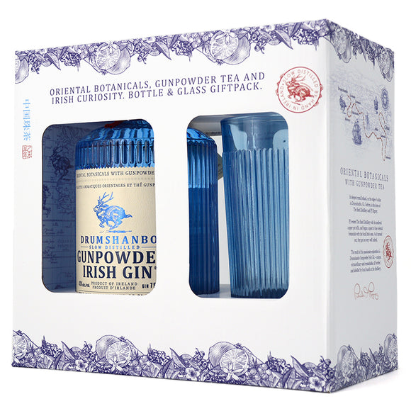DRUMSHANBO GUNPOWDER IRISH GIN GIFTPACK 750ML + GLASS