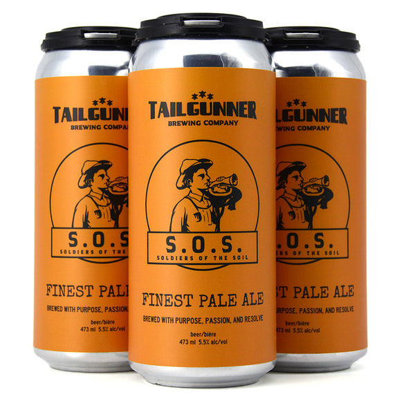 TAILGUNNER S.O.S SOILDERS OF THE SOIL FINEST PALE ALE 4C