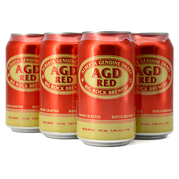 ALBERTA GENUINE DRAFT RED LAGER 6C