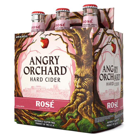 ANGRY ORCHARD HARD CIDER ROSE 6B