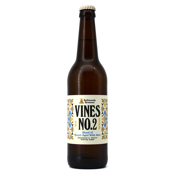 BELLWOODS VINES NO. 2 BARREL AGED WILD ALES REFERMENTED W RIESLING GRAPES 500ML