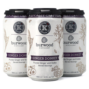 BURWOOD/HAPPY BELLY KOMBUCHA GINGER DONKEY PURPLE GINGER AND VODKA 4C