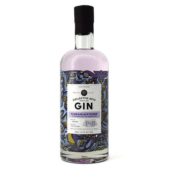 COLLECTIVE ARTS PLUM & BLACKTHORN GIN 750ML