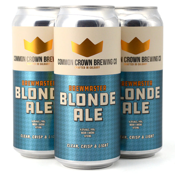 COMMON CROWN BREWMASTER BLONDE ALE 4C