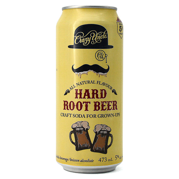 CRAZY UNCLE HARD ROOT BEER 473ML