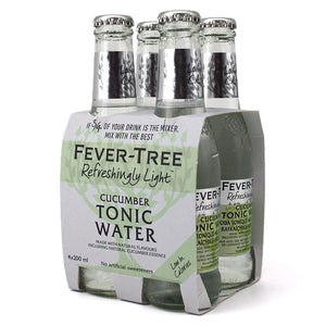 FEVER TREE REFRESHINGLY LIGHT CUCUMBER TONIC WATER 4B