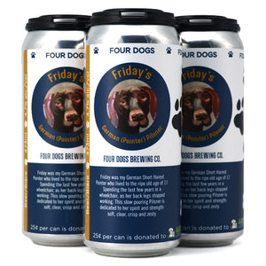 FOUR DOGS BREWING FRIDAY'S GERMAN POINTER PILSNER 4C