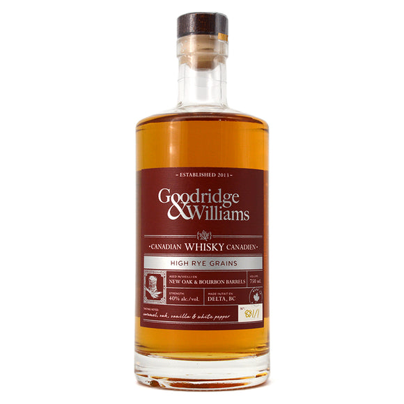 GOODRIDGE & WILLIAMS HIGH RYE GRAINS 750ML