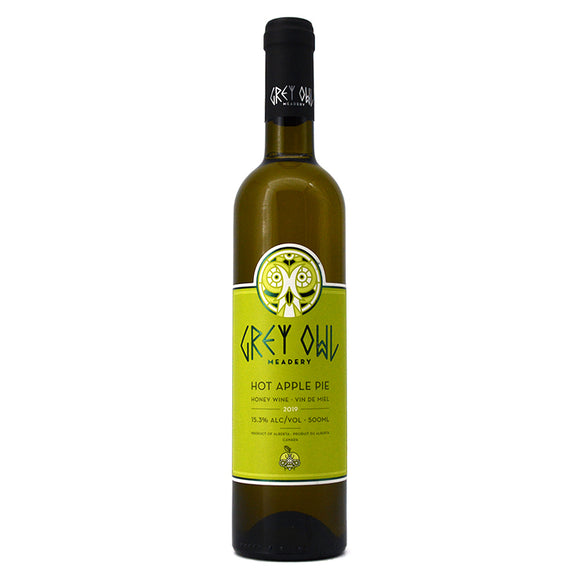 GREY OWL HOT APPLE PIE HONEY WINE 500ML