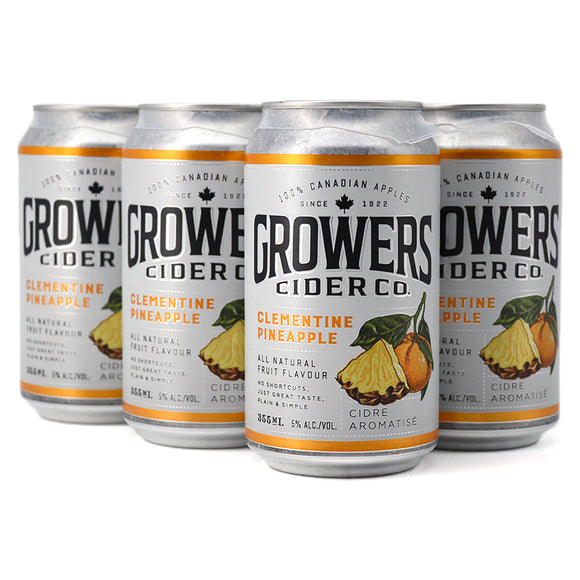 GROWERS CIDER CLEMENTINE PINEAPPLE 6C