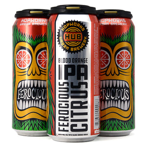 HOPWORKS FEROCIOUS CITRUS BLOOD ORANGE IPA 4C