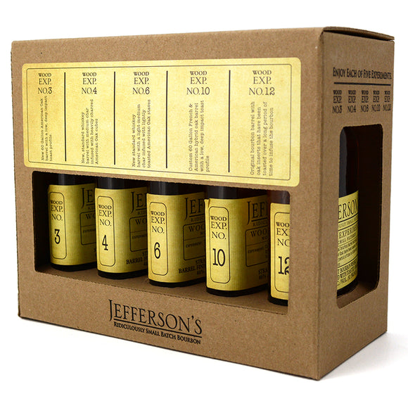 JEFFERSON'S BOURBON WOOD EXPERIMENT COLLECTION 5 x 200ML