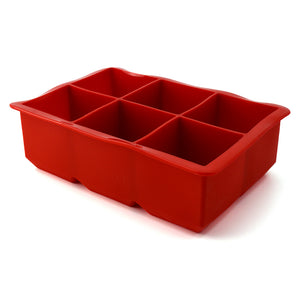 COLOSSAL ICE CUBE TRAY RED