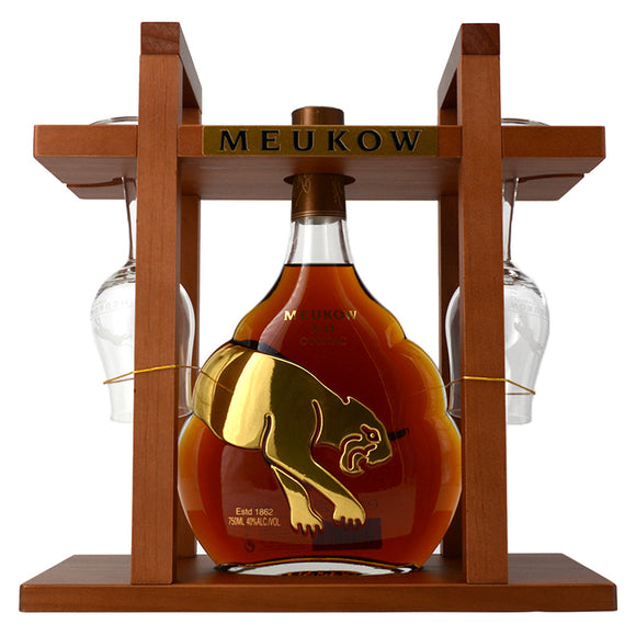 MEUKOW XO COGNAC RACK 750ML + 2 GLASSES