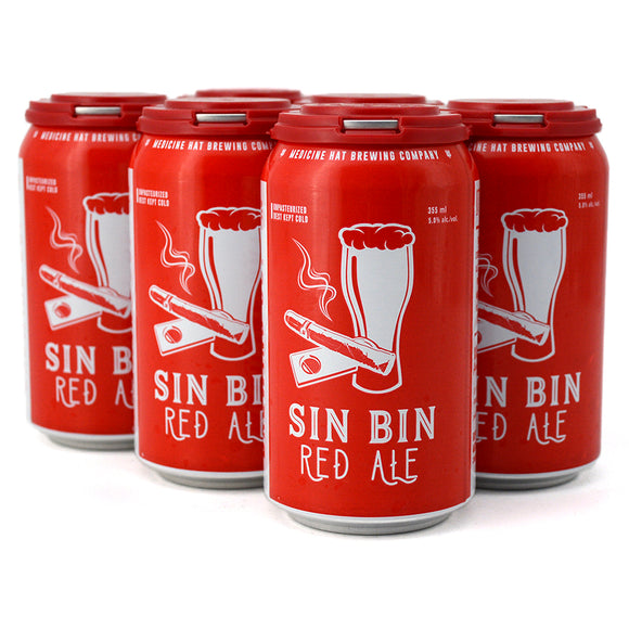 MEDICINE HAT BREW CO SIN BIN RED ALE 6C