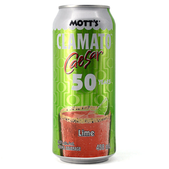 MOTT'S CLAMATO CAESAR LIME 458ML