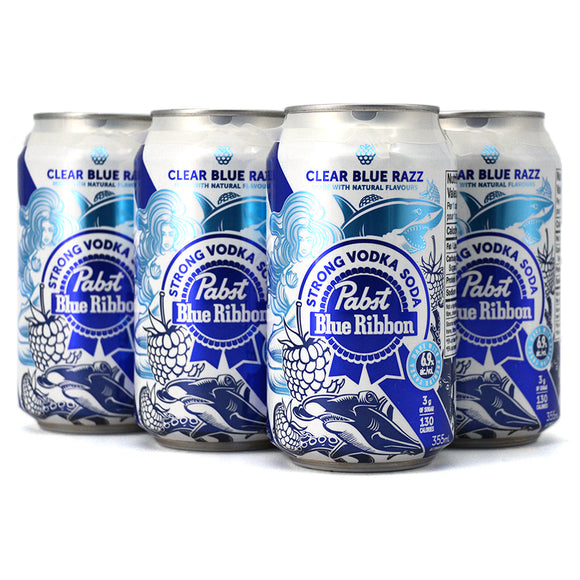 PABST STRONG VODKA SODA CLEAR BLUE RAZZ 6C