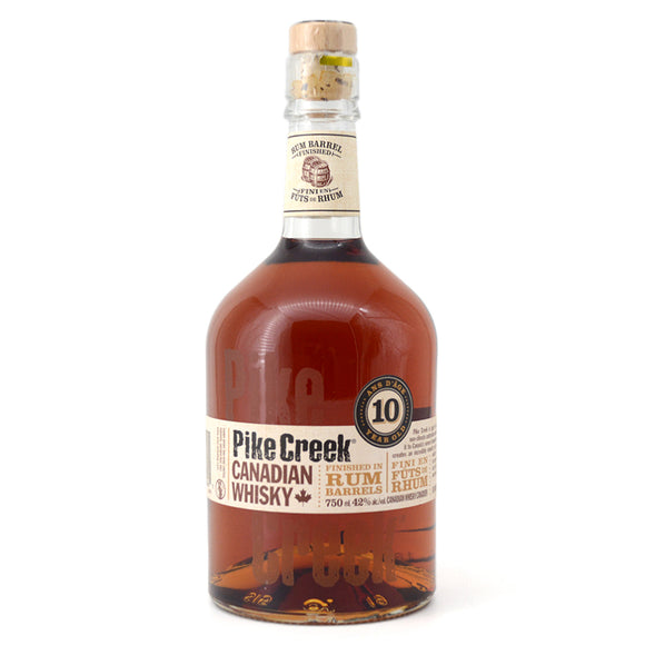 PIKE CREEK 10 YEAR OLD RUM BARREL FINISHED WHISKY 750ML
