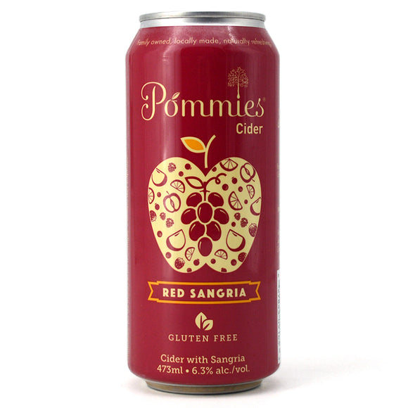 POMMIES RED SANGRIA CIDER 473ML